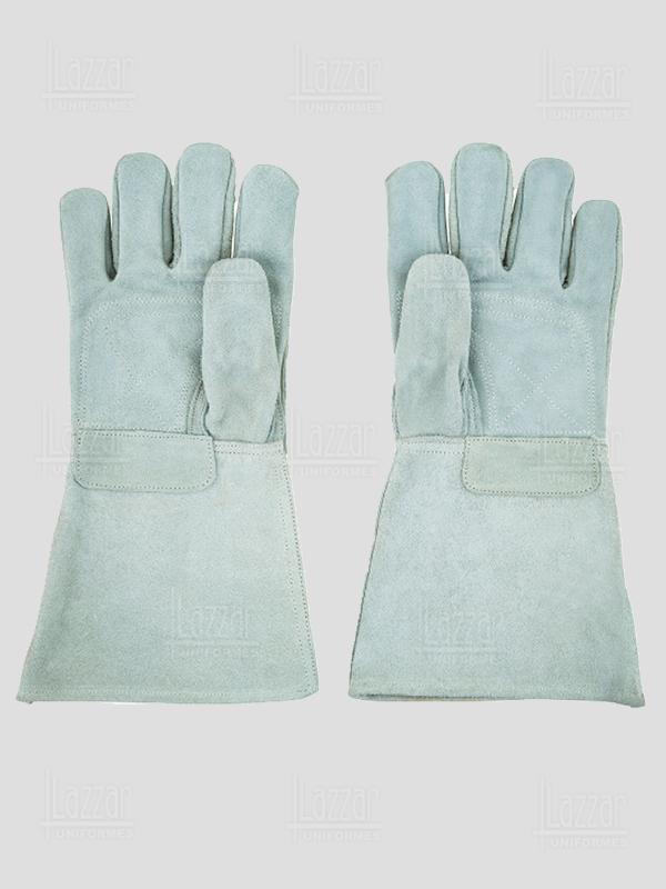 Guantes de soldador largos color gris