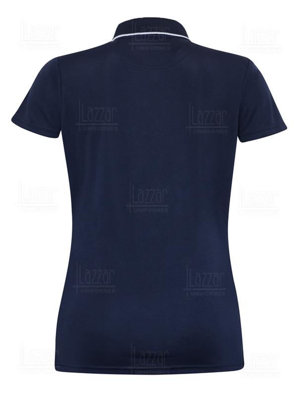 Playera Tipo Polo Ejecutiva Dry Fit Premium color azul marino