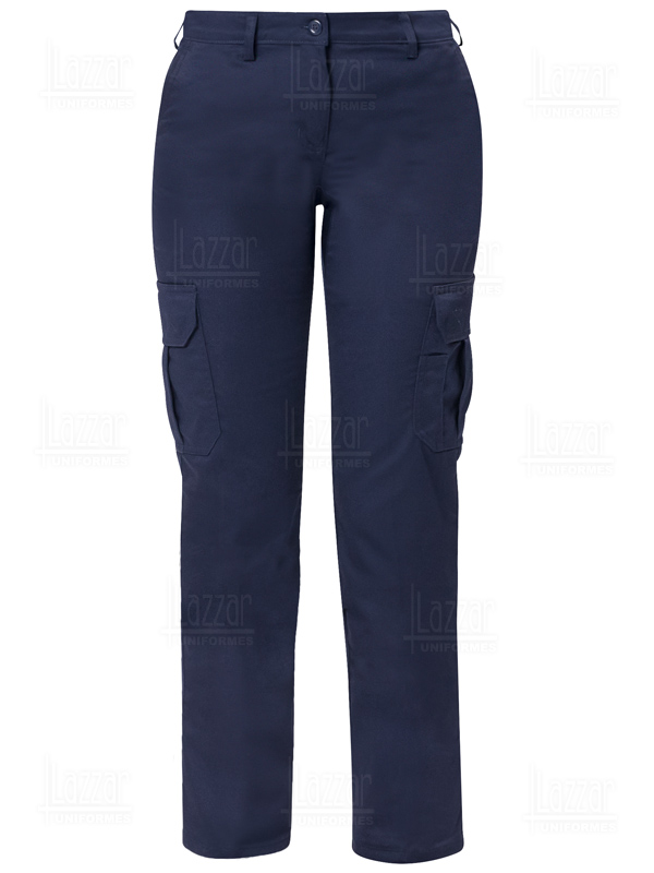 Pantalones tipo Cargo para dama color marino