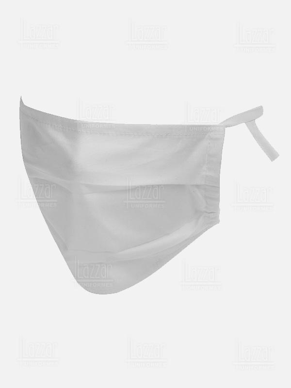 Cubrebocas lavable doble capa premium color blanco