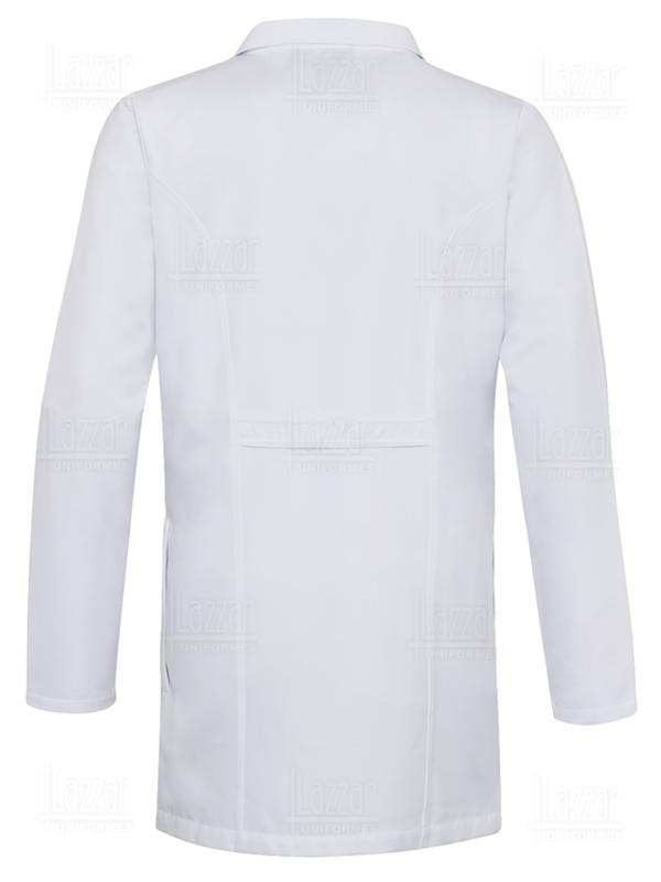 Bata Industrial para caballero manga larga color blanca