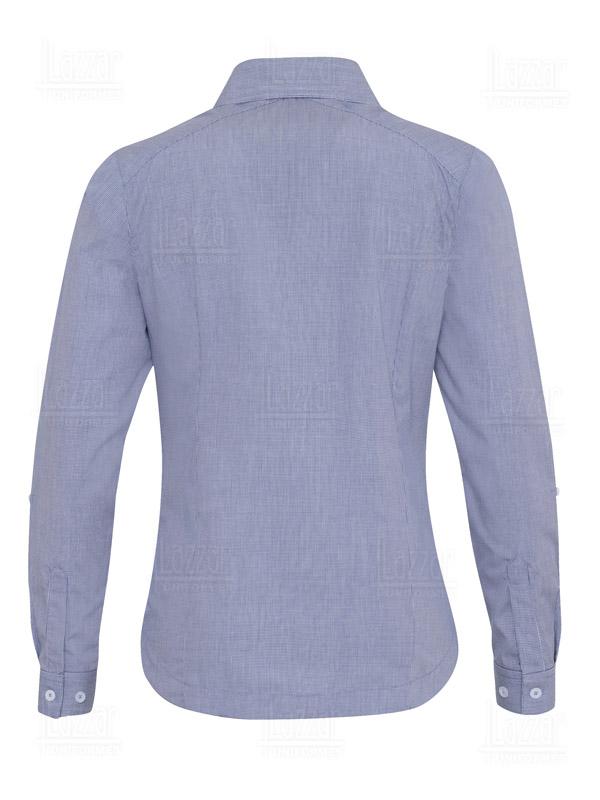 Blusa cuadros color azul marino