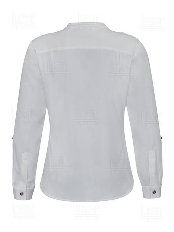 Blusa empresarial parte de la espalda