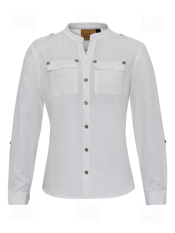 Blusa empresarial color blanca